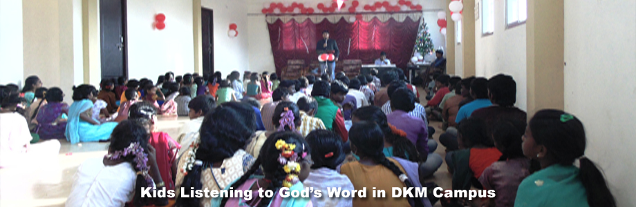 Kids Listening to God's Word in DKM Campus